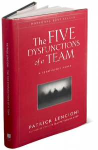 The Five Dysfunctions of a Team - Patrick Lencioni - book cover
