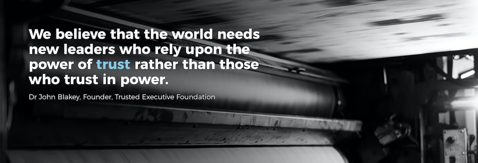 In these stormy and turbulent times, trust has died. Trust has always been important through-out our 130 years of the FT. John Ridding, CEO, FT Group