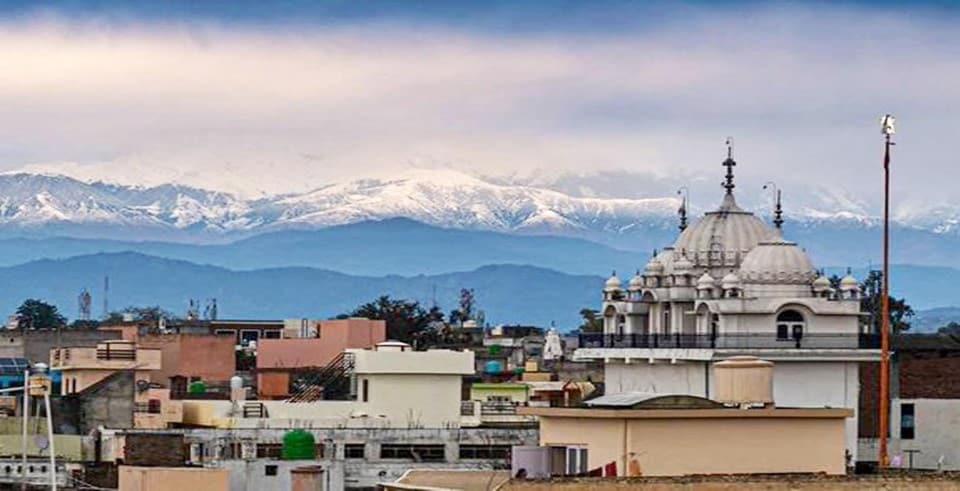 Himalayas see from Pathankot
